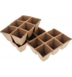 Бумажные горшки для рассады 10 штук по 6 ячеек