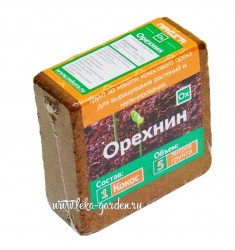 Субстрат кокосовое волокно Орехнин 1 брикет 380 г