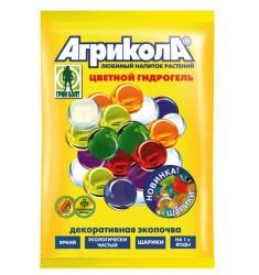 Гидрогель Агрикола прозрачные шарики 20 гр